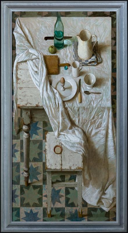 Appeltje eitje – 2012 – 160 x 80 cm – acryl op linnen – niet beschikbaar