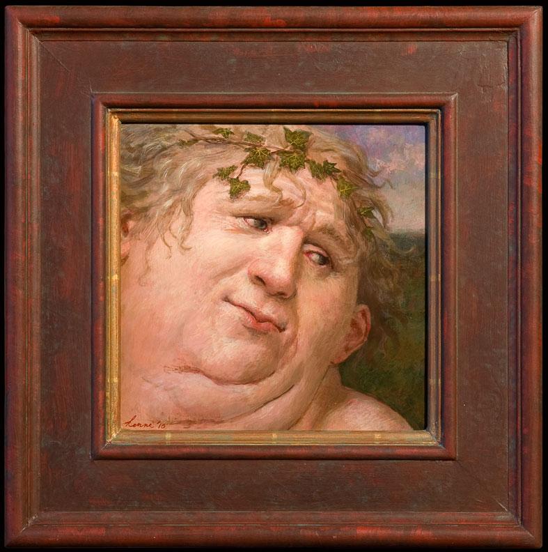 Bachus – 2010 – 26 x 26 cm – acryl op paneel – niet beschikbaar