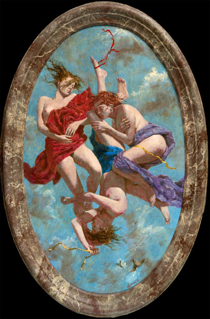 Barok – 1996 – 77 x 46 cm – acryl op paneel – niet beschikbaar