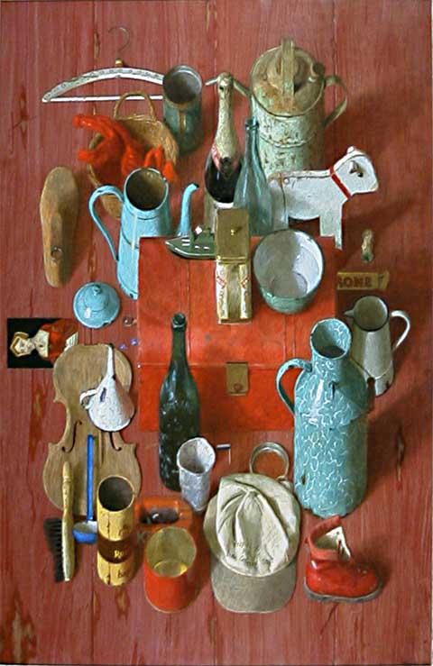 Brocante – 2003 – 140 x 90 cm – acryl op paneel – niet beschikbaar