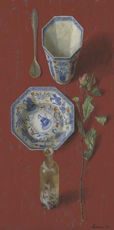 Chinees rood – 2006 – 50 x 25 cm – olie op paneel – niet beschikbaar