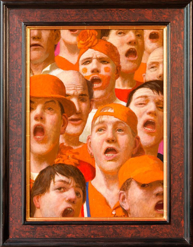 Clublied2 – 2015 – 60 x 43 cm – acryl op paneel – niet beschikbaar