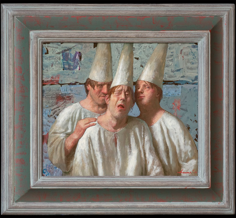 Collega's – 30 x 35 cm – acryl op paneel – niet beschikbaar