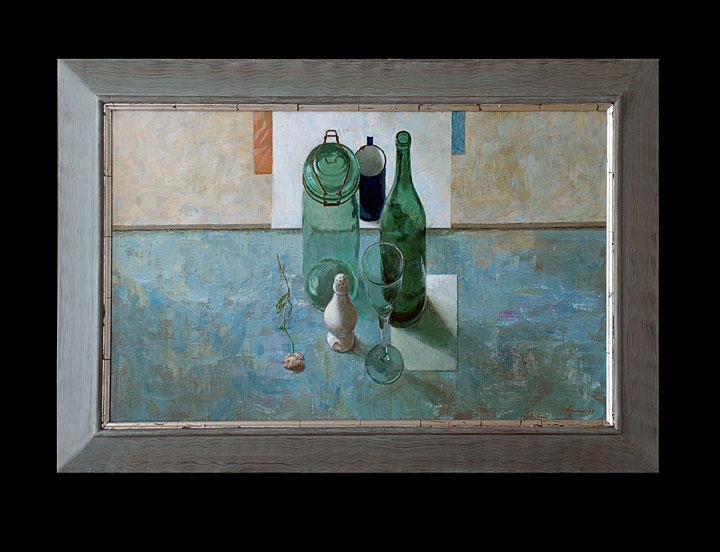 Compositie met glas – 80 x 50 cm – niet beschikbaar