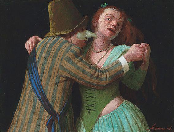 Dansles – 22,0 x 28,5 cm – acryl op paneel – niet beschikbaar