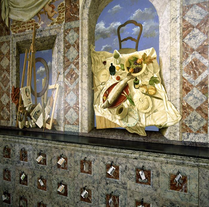 De Geneugten des levens 4 – Opdracht van sigarenfabriek de Olifant te Kampen – de Kenne-kamer – Wandschildering +- 80 vierkante meter – niet beschikbaar