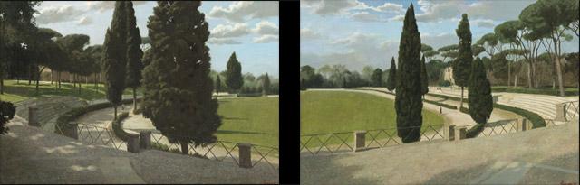 De Ontmoeting, in Rome, twee luik – 2x (55 x 80 cm) – acryl op paneel – beschikbaar