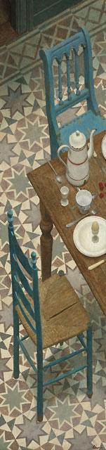 Dejeuner sur les etoiles – 210 x 50 cm – acryl op paneel – niet beschikbaar