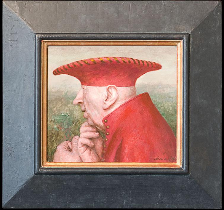 Doge – 2010 – 22 x 24 cm – acryl op paneel – niet beschikbaar
