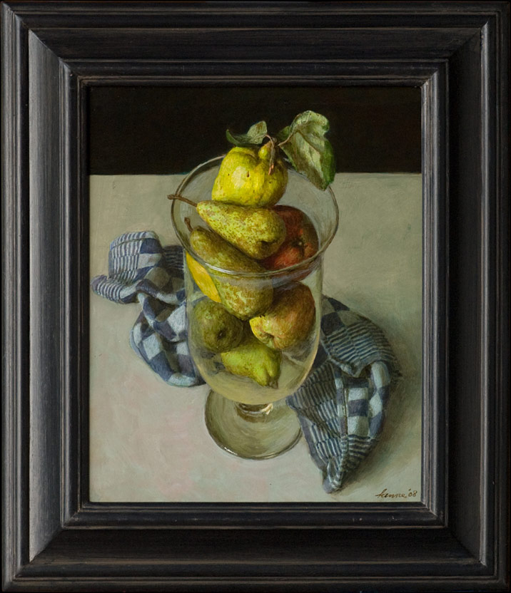 Fruitbokaal – 2008 – 40 x 33 cm – acryl op paneel – niet beschikbaar