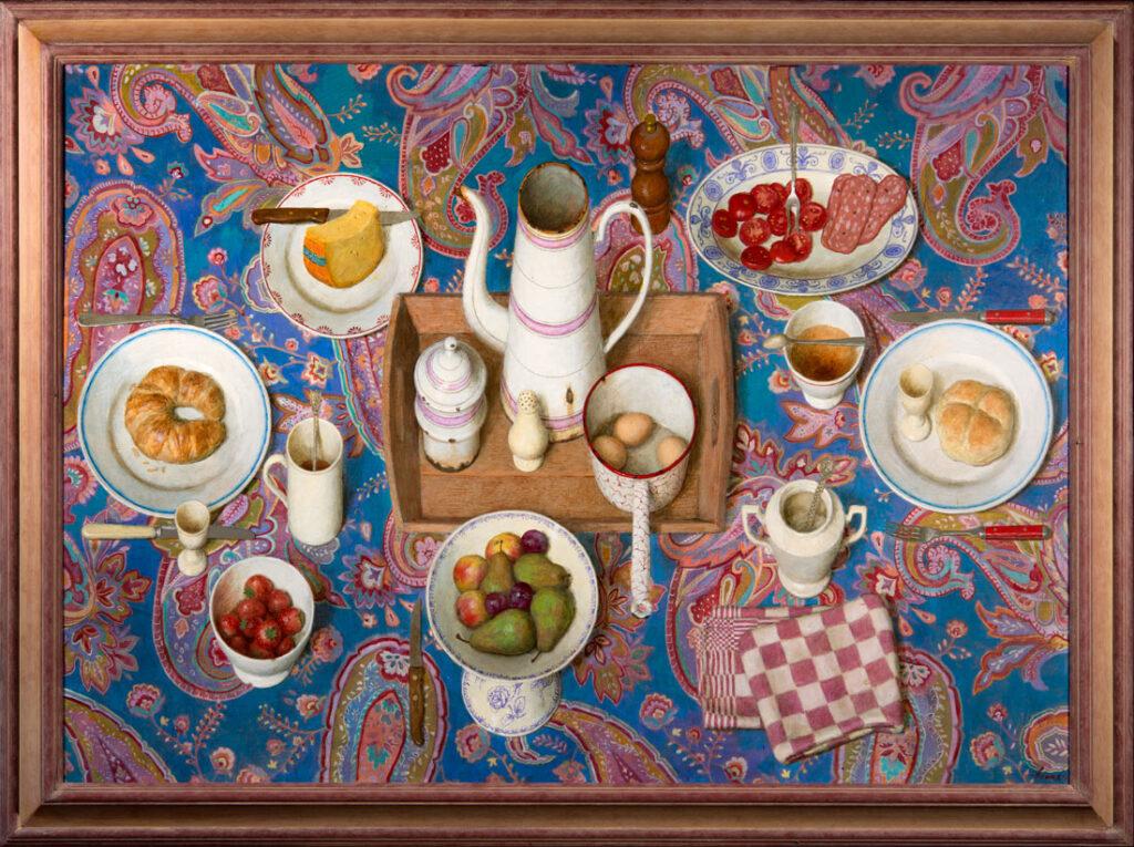Goedemorgen – 2013 – 25 x 90 cm – arcryl op paneel – niet beschikbaar