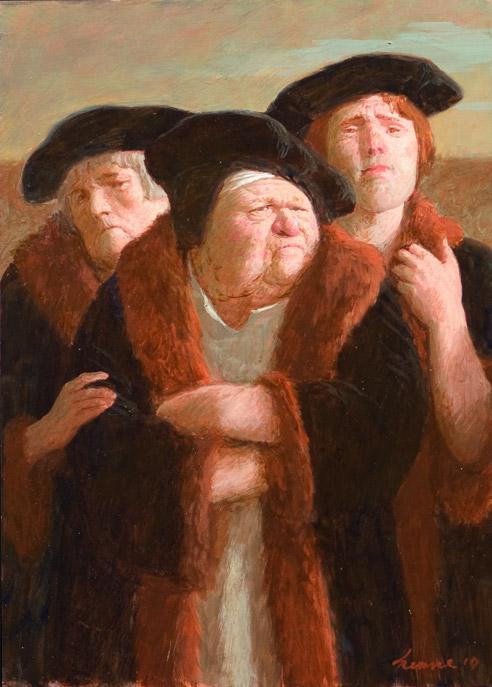 Hoog bezoek – 2010 – 25 x 35 cm – acryl op paneel – niet beschikbaar