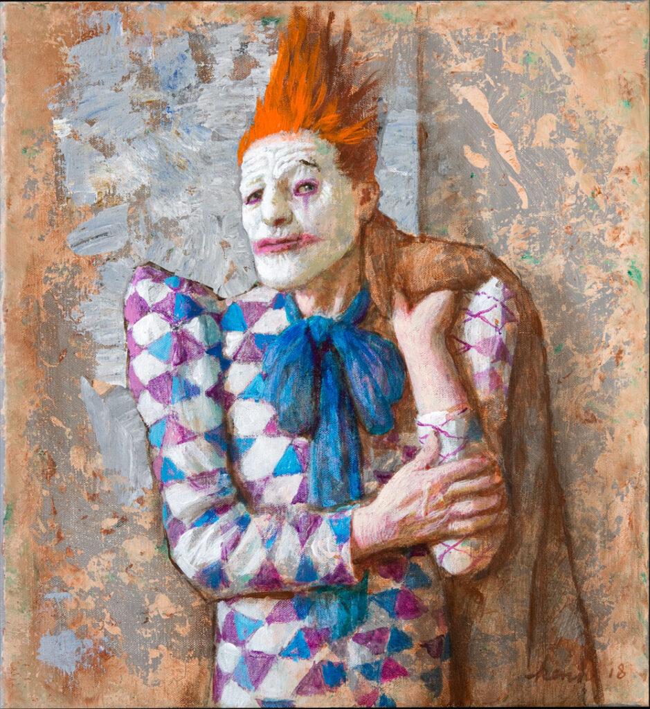 Joker – 2018 – 36 x 40 cm – acryl op linnen – niet beschikbaar