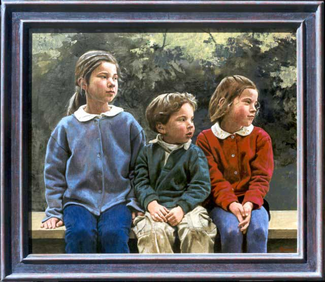 Kinderen – 90 X 70 cm – acryl op paneel – niet beschikbaar