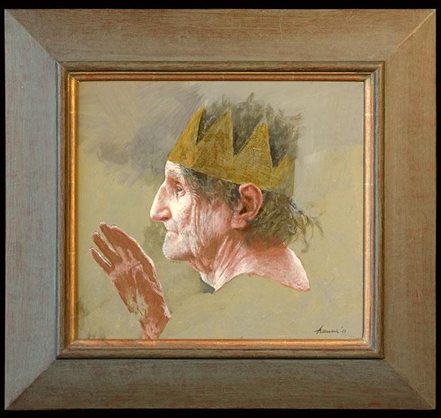Koning – 2011 – 35 x 31 cm – acryl op paneel – niet beschikbaar