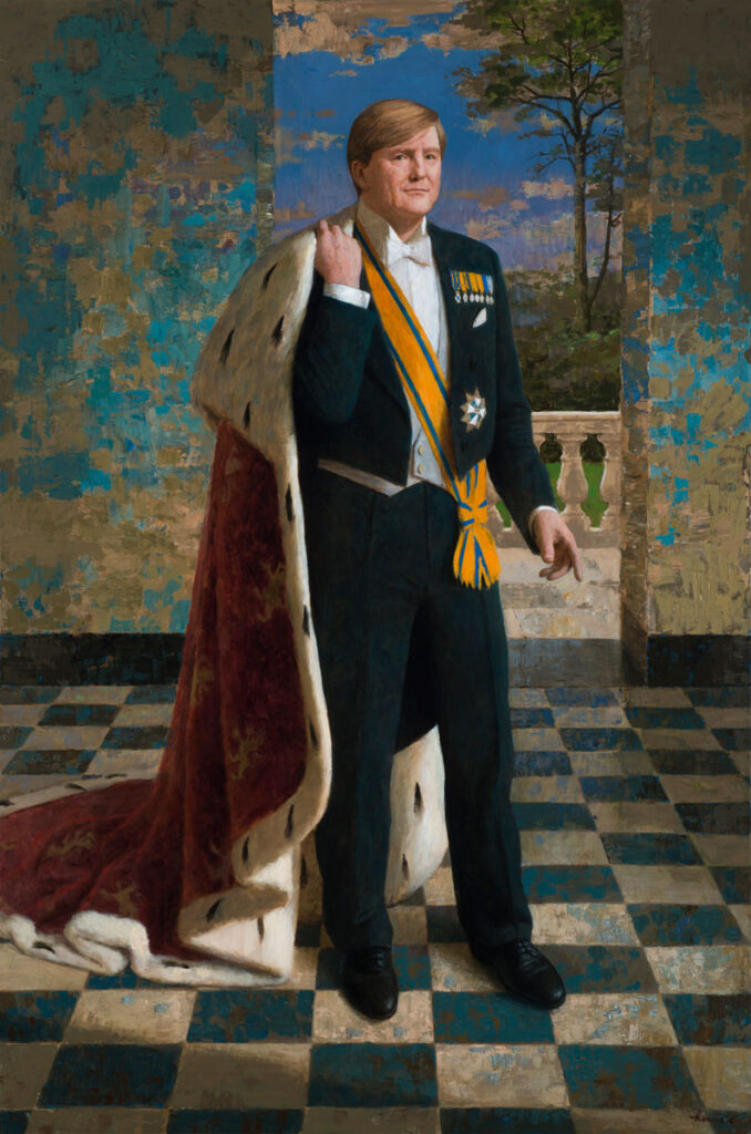 Koning Willem Alexander – 2016 – 192 x 128 cm – acryl op linnen – niet beschikbaar