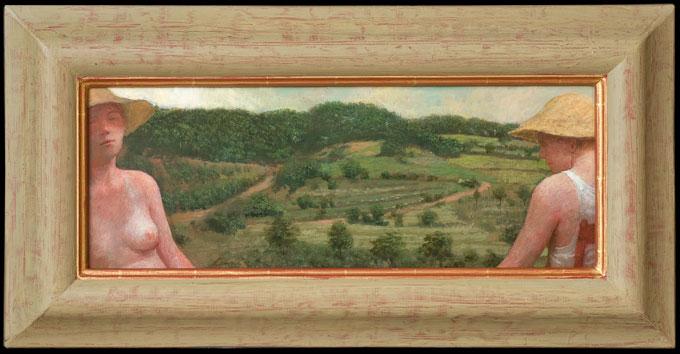 La Douce France – 56 x 21 cm – acryl op paneel – niet beschikbaar
