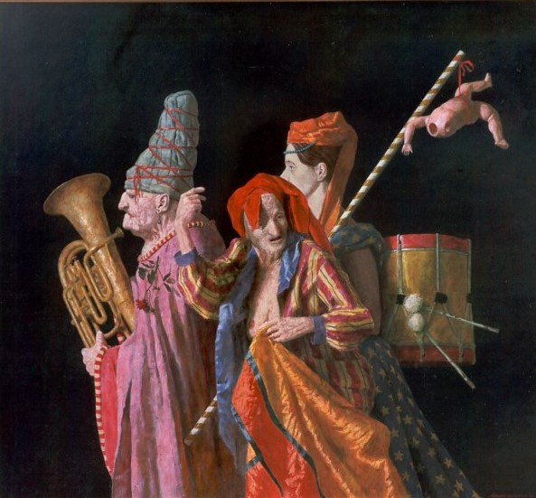 La Festa Grande, Stardust Productions, Den Haag - 140 X 130 cm - acryl op linnen - niet beschikbaar