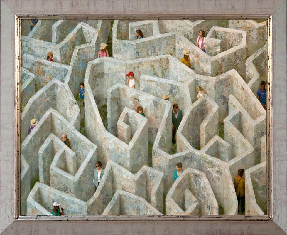Labyrint – 2016 – 100 x 80 cm – acryl op linnen – niet beschikbaar