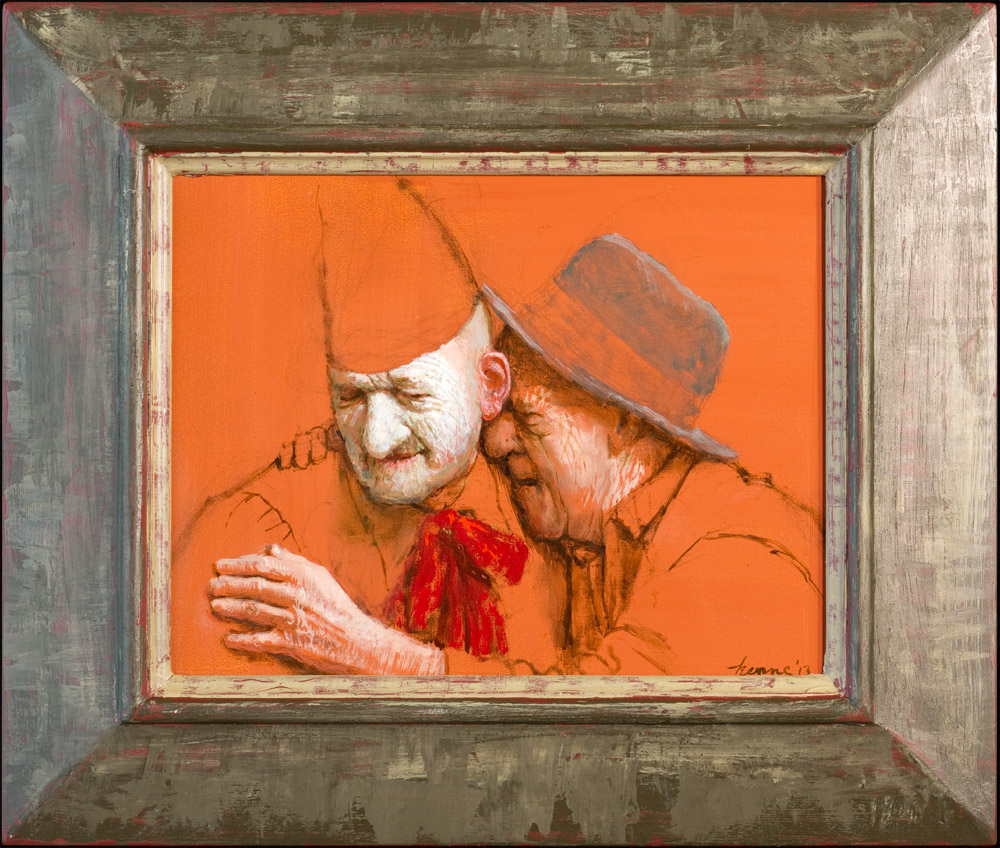 Lachende Knarren – 2013 – 33 x 26 cm – olieverf op paneel – niet beschikbaar