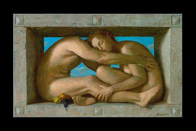 Liefdespaar – 2002 – 64 x 43 cm – acryl op paneel – niet beschikbaar