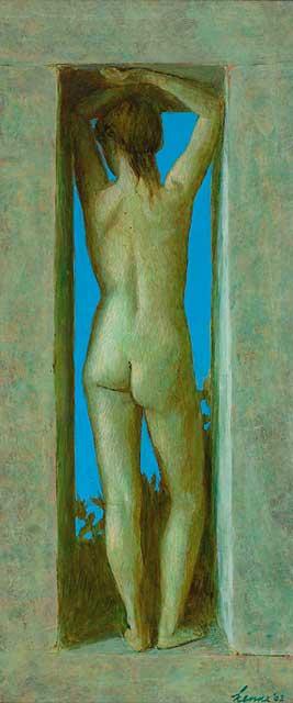 Liefje – 2002 – 54 x 23 cm – acryl op paneel – niet beschikbaar