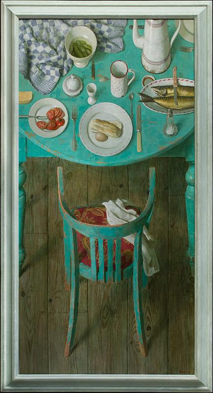 Lunch met makreel – 2009 – 80 x 160 cm – acryl op linnen – niet beschikbaar