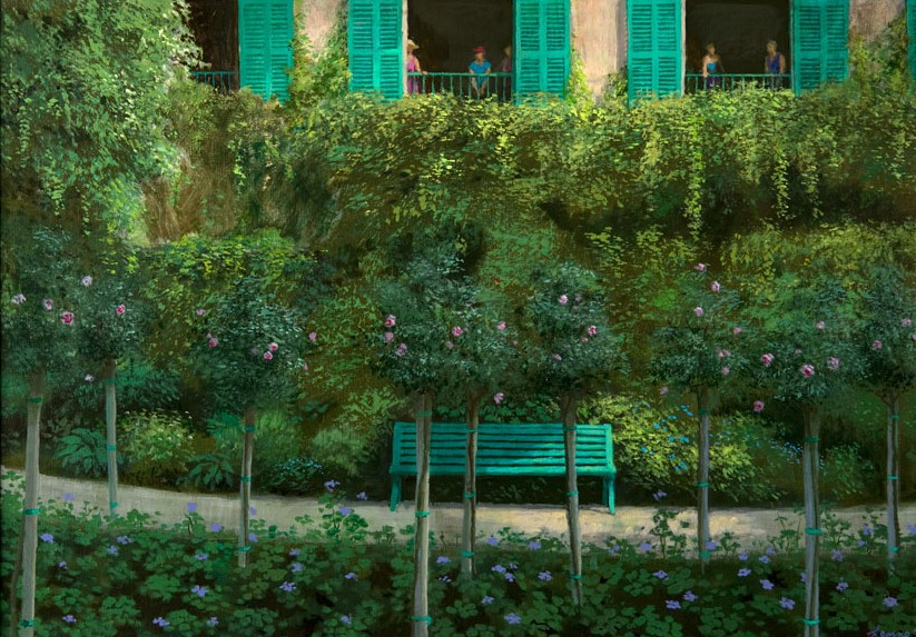 Maison Monet - 2018 - 85 x 60 cm - acryl op paneel - niet beschikbaar