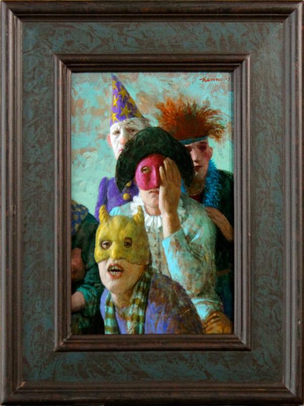 Masker – 2013 – 35 x 20 cm – acryl op paneel – niet beschikbaar