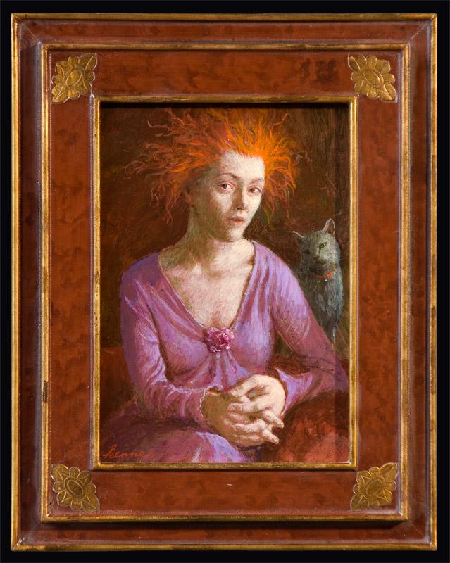 Meisje met het rode haar – 2011 – 18 x 13 cm – acryl op paneel