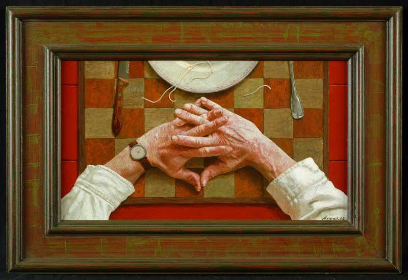 Mijn handen – 50 x 28 cm – acryl op paneel – niet beschikbaar