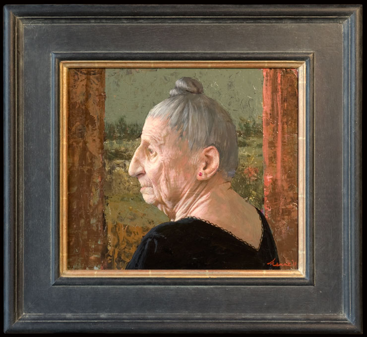 Mooi oud – 2011 – 35 x 30 cm – acryl op paneel – niet beschikbaar