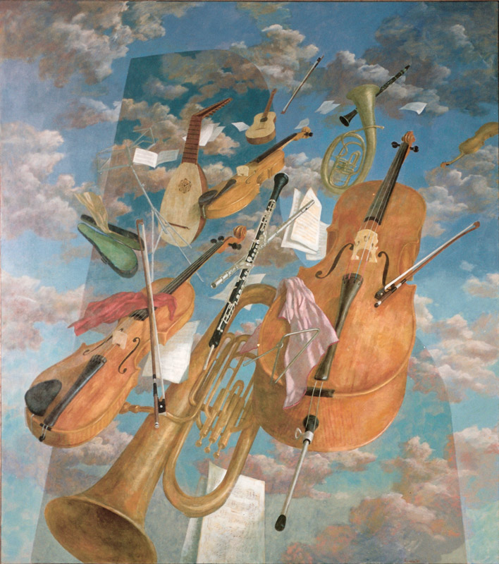 Muziek – 1985 – 240 x 200 cm – acryl op linnen – niet beschikbaar