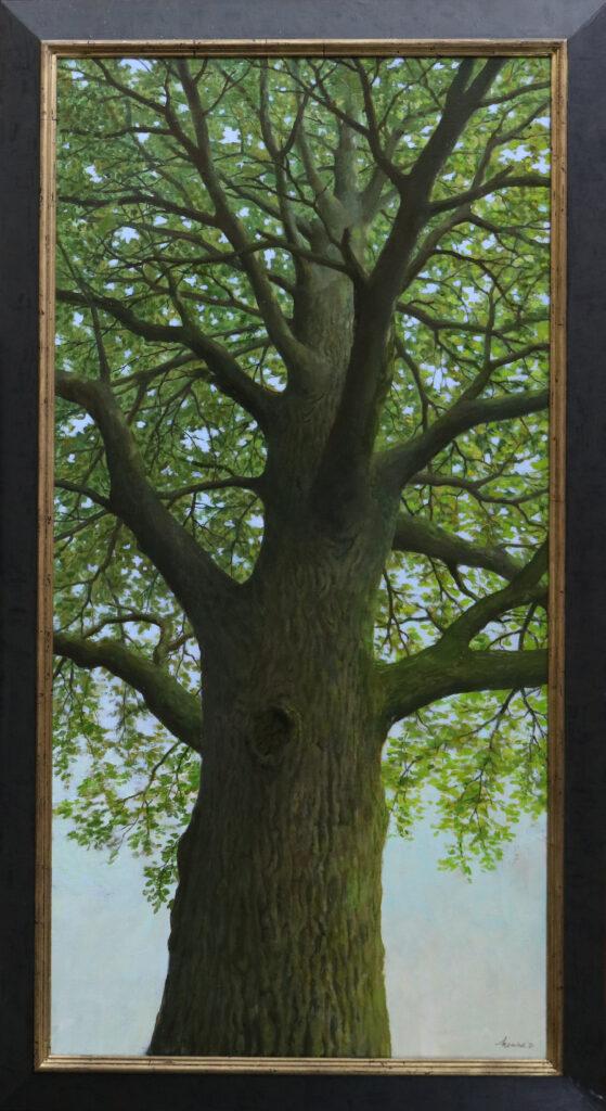 Onder de boom – 2020 – 140 x 70 cm – acryl op linnen – beschikbaar