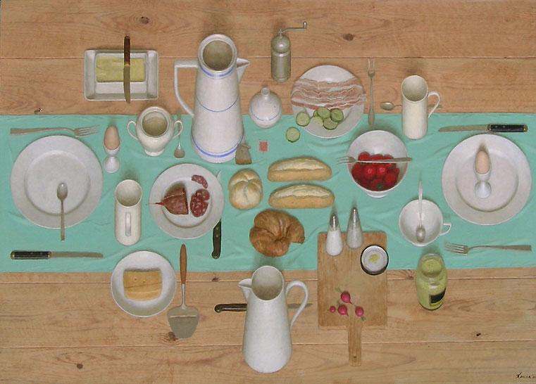 Ontbijt – 2005 – acryl op paneel – niet beschikbaar