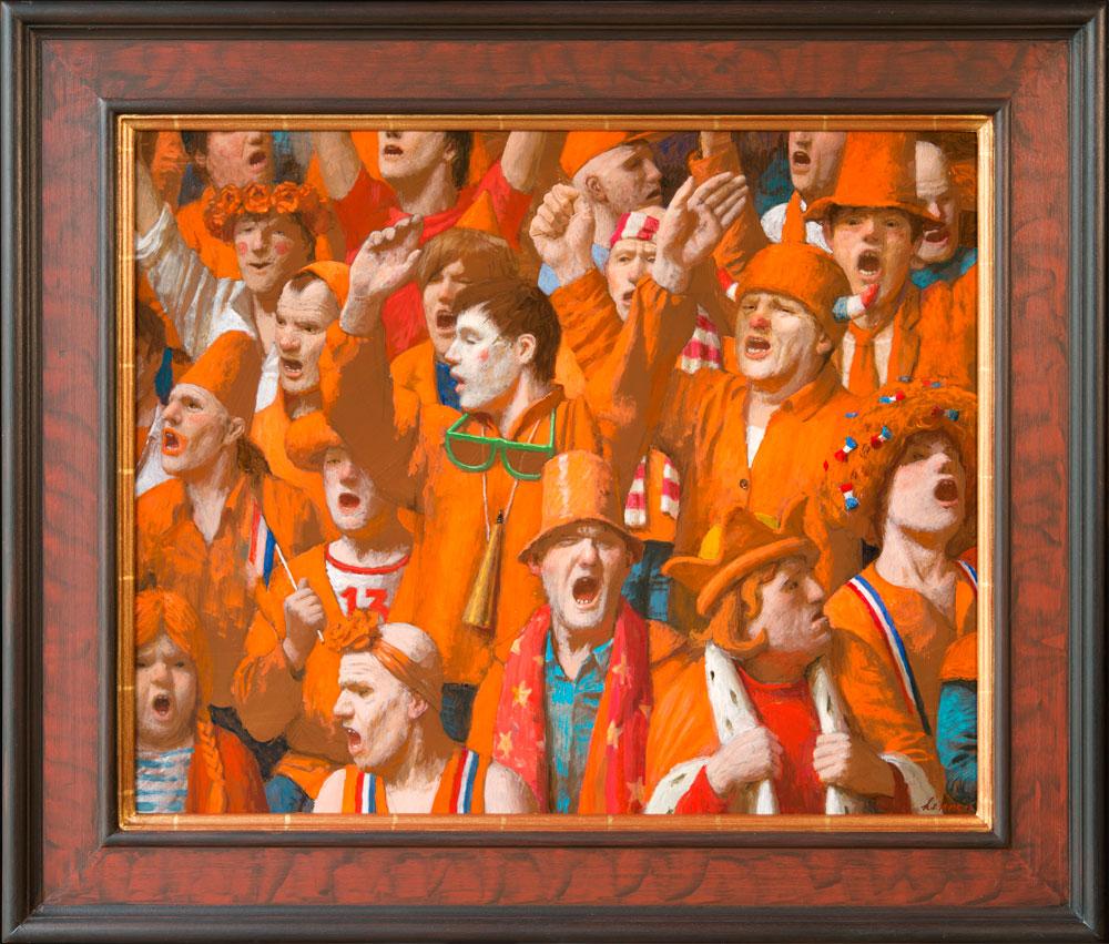 Oranje gekte – 2015 – 50 x 60 cm- acryl op paneel – niet beschikbaar