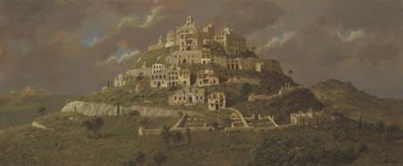 Oud Babylon – 2006 – 50 x 123 cm – acryl op paneel – niet beschikbaar