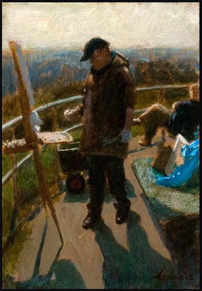 Peter Smit op de hoogste duin – 2012 – 21 x 15 cm – niet beschikbaar