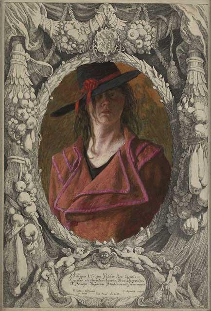 Philippa I. Dictus – 40 x 28 cm – acryl op antieke gravure – niet beschikbaar