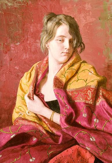 Portret jonge vrouw - 2011 - 50 x 70 cm - beschikbaar