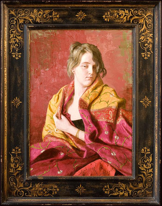 Portret jonge vrouw – 2011 – 50 x 70 cm – beschikbaar