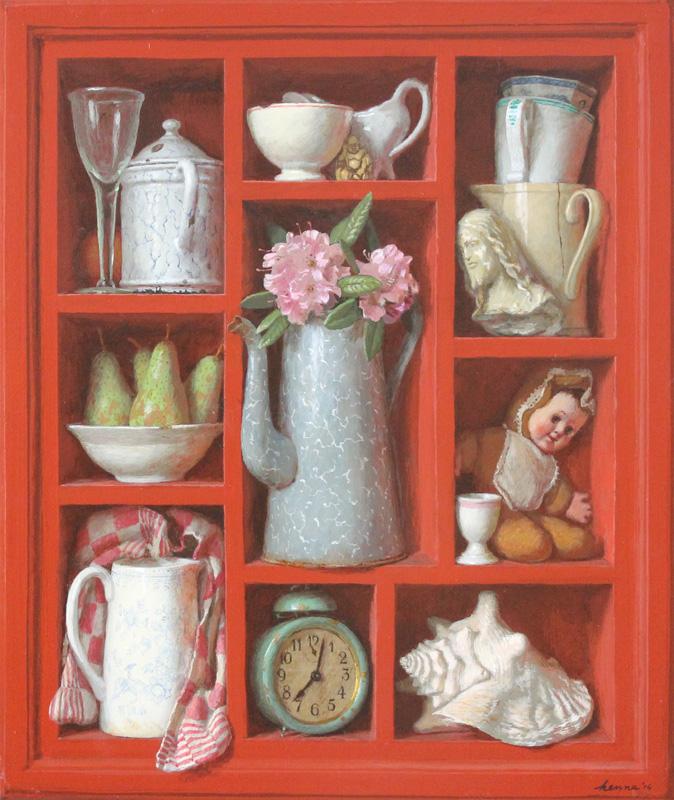 Rood kastje – 2014 – 70 x 60 cm – acryl op paneel – niet beschikbaar