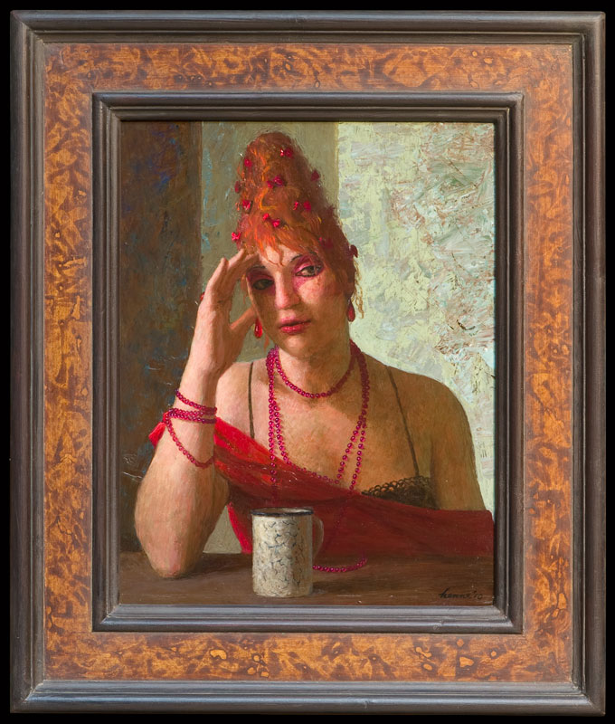 Rooie Sien – 2010 – 42 x 32 cm – acryl op paneel – niet beschikbaar