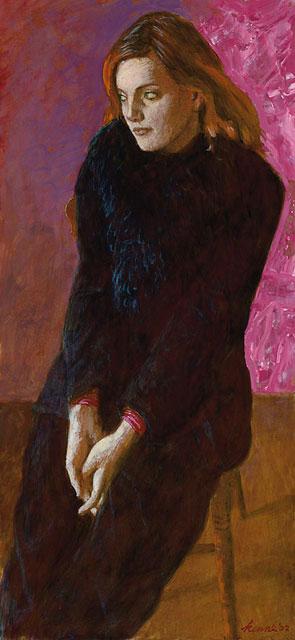 Sarah I – 2003 – 45 x 20 cm – acryl op paneel – niet beschikbaar
