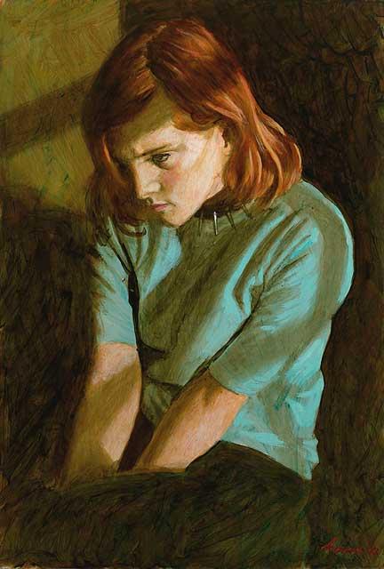 Sarah II – 2003 – 50 x 33 cm – acryl op paneel – niet beschikbaar