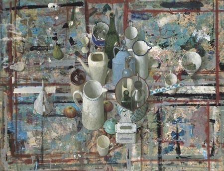 Schilders keuken – 2006 – 93 x 122 cm – acryl op paneel – niet beschikbaar