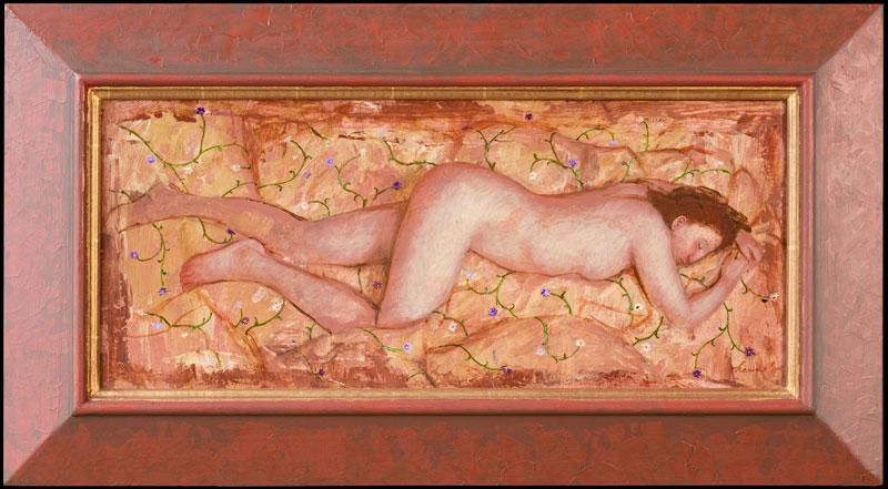 Slapend Naakt – 2011 – 60 x 26 cm – acryl op paneel – beschikbaar