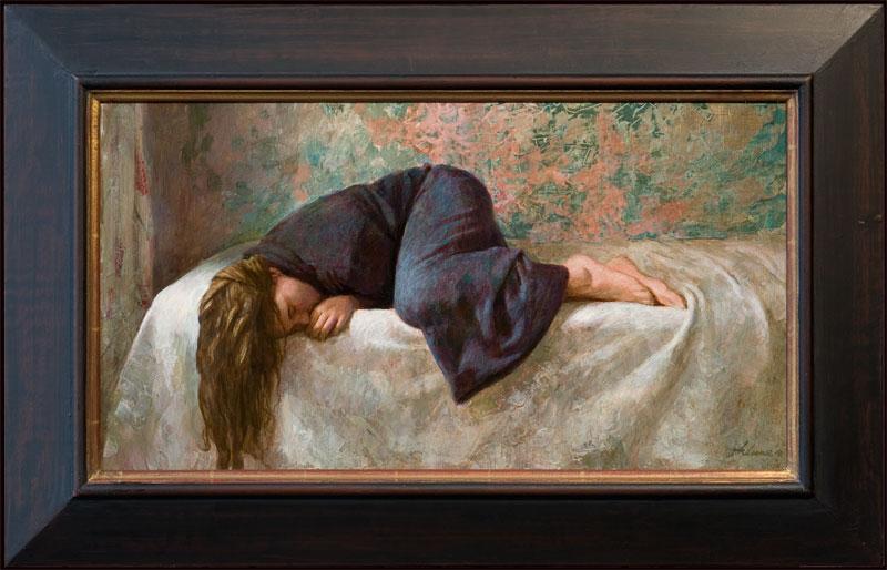 Slapend meisje – 2011 – 60 x 32 cm – niet beschikbaar