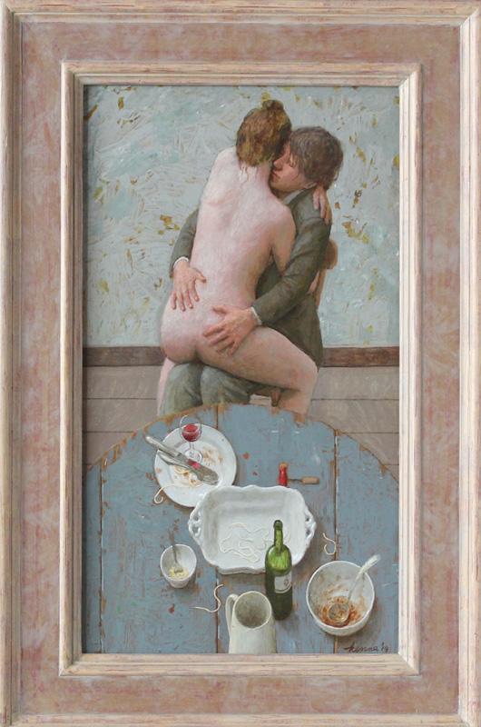 Spaghetti con amore – 2014 – 60 x 33 cm – acryl op paneel – niet beschikbaar