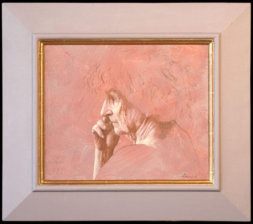 Studie van oude kop – 2011 – 34 x 28 cm – acryl op paneel – niet beschikbaar